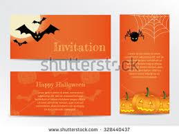 horizontal halloween banners vector stock vector