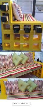 Concrete Block Bed Frame Cinder Block Furniture Backyard How To Make A Bench From Cinder