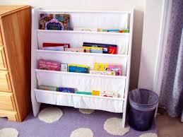 white kids bookcase sling bookshelf for kids room