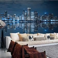 Skyline Wallpaper Bedroom Wallpaper Johnkart Com