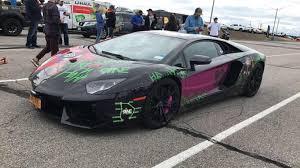 lamborghini aventador wrap lamborghini aventador with joker wrap goldrush rally 9ine autos