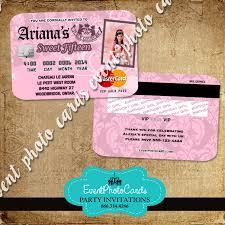 Vip Invitation Cards Juicy Couture Party Card Invitations Plastic Card Credit Invites