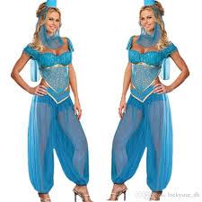 Size Dorothy Halloween Costume Womens Blue Genie Jasmine Aladdin Ladies Fancy Dress