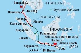 Thailand Blank Map by Bangkok To Bali Indonesia Tours Intrepid Travel Ca