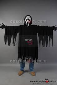 halloween costumes scream mask scream ghost face killer black robe mask costume cosplaysky com
