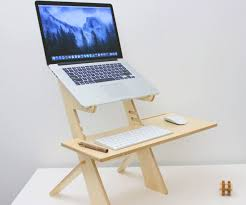 Laptop Desk Wooden Standing Laptop Desk