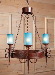 cross scroll design iron chandelier
