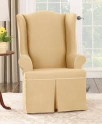 Slipcover Wing Chair Ticking Stripe Slipcover For Wingback Chair Would Love This On