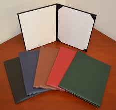 diploma holder bonded recycled leather book tent diploma covers