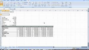 Income Statement Excel Template Proforma Income Statement