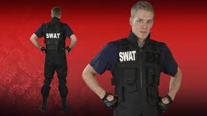 Fbi Halloween Costume Mens Swat Team Costume