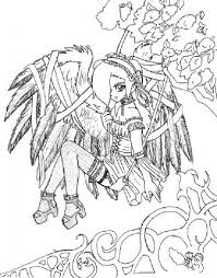 goth anime coloring pages coloring pages stamps