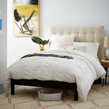 How To Make A Platform Bed With Headboard by Simple Bed Frame Chocolate West Elm