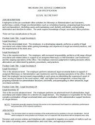 legal secretary resume sample u2013 topshoppingnetwork com