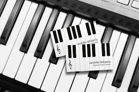 Business Card Music Musician Piano Business Cards J32 Design