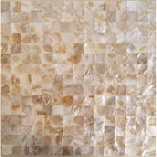 shell mosaic tiles wall mother of pearl tile backsplash kitchen