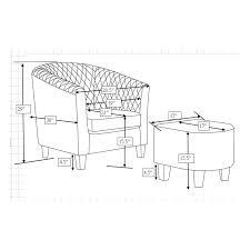 barrel chair with ottoman latitude run salter barrel chair and ottoman reviews wayfair ca