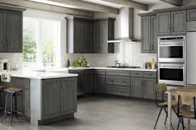 grey stained shaker kitchen cabinets york driftwood cabinets easy kitchen cabinets