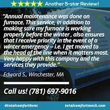 Total Comfort Hvac Total Comfort Mechanical Heating And Air Conditioning Repair