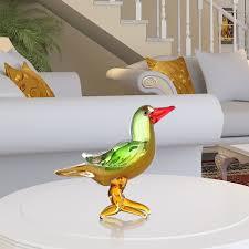 best and cheap green tooarts red beak bird glass sculpture home