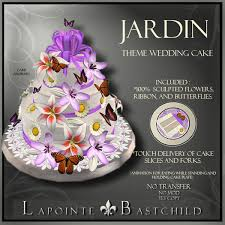 second life marketplace sculpted cake u201cjardin u201d round 3 tier cake