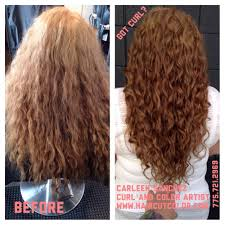 before and after of carleen sanchez curly hair artistry haircut
