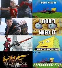 Final Fantasy Memes - spongebob needs stormblood final fantasy xiv know your meme