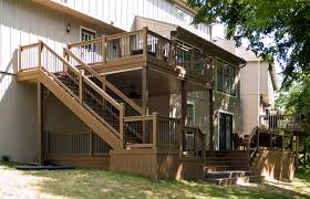 Two Story Deck Second Story Deck Designs Raised Deck With Second Story Level