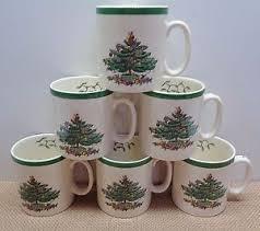 spode tree china 6 tea cocoa or coffee mugs