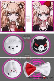 anime hair accessories dangan ronpa junko enoshima monokuma monomi hair pins