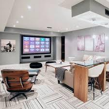 Theatre Room Design - 70 home basement design ideas for men masculine retreats