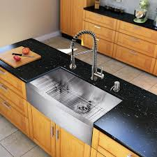 kitchen sink and faucet sets vigo vg15139 all in one 36 farmhouse stainless steel kitchen sink