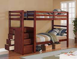 alluring twin bunk beds with stairs white wood storage twin twin