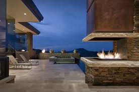 epic modern outdoor gas fireplace 34 with additional house