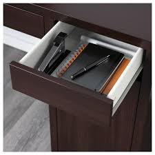 Ikea Desk Drawer Organizer by Micke Workstation Black Brown 105x50 Cm Ikea