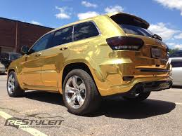 jeep chrome gold chrome jeep grand cherokee srt 8 vehicle customization shop
