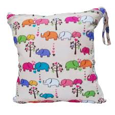Waterproof Cushion Storage Bag by Baby Protable Nappy Reusable Washable Wet Dry Cloth Zipper