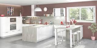 model de cuisine americaine cuisine ouverte et moderne coloris blanc et gris cendré cuisines