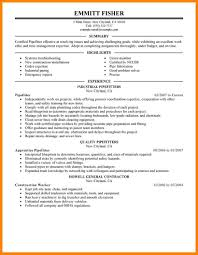 Tradesman Resume Template 10 Pipefitter Resume Samples Address Example