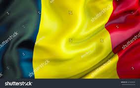 Belgia Flag Belgium Flag 3d Waving Flag Design Stock Illustration 631604030