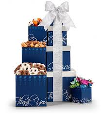 Gift Towers Many Thanks Gift Tower Gift Towers A Delicious Assortment