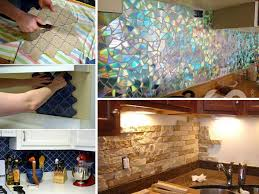 creative backsplash ideas for kitchens 24 low cost diy kitchen backsplash ideas and tutorials amazing