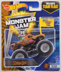 scooby doo monster jam truck toy wheels 1 64 monster jam 2017 assortment j case 8pcs 21572 977j