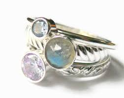 grandmother rings 3 birthstone ring etsy