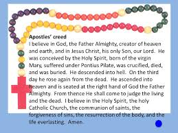 creed rosary praying the rosary ppt online