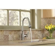 brantford kitchen faucet moen 7185srs brantford spot resist stainless pullout spray kitchen