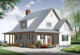 open floor plan farmhouse house plan w3518 v1 detail from drummondhouseplans com