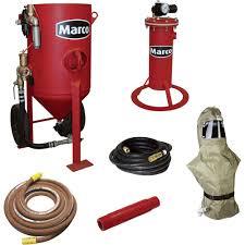 free shipping u2014 marco air blast abrasive blasting package u2014 600 lb