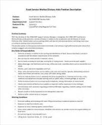Fast Food Job Description For by Resume For Fastfood Fast Food Resume Examples Resume Sample