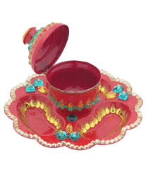 creative home decor red acrylic traditional kankavati buy